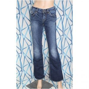 Silver Jeans 28×33 Blue Aiko Dark Wash